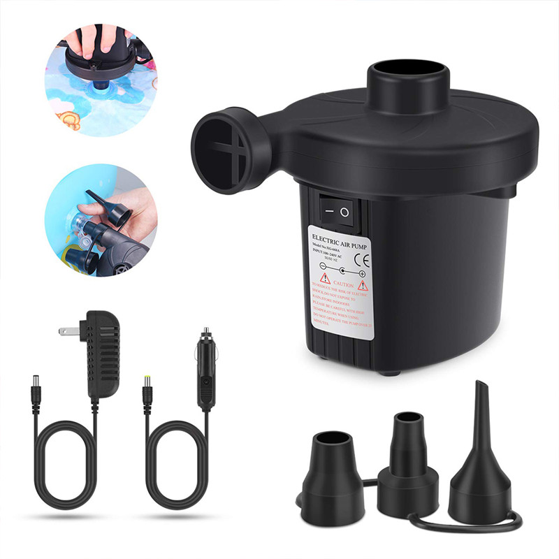2 IN 1 12V//240V ELECTRIC AIR INFLATOR CAMPING AIRBED PUMP POOL DEFLATOR MAINS by Ocean