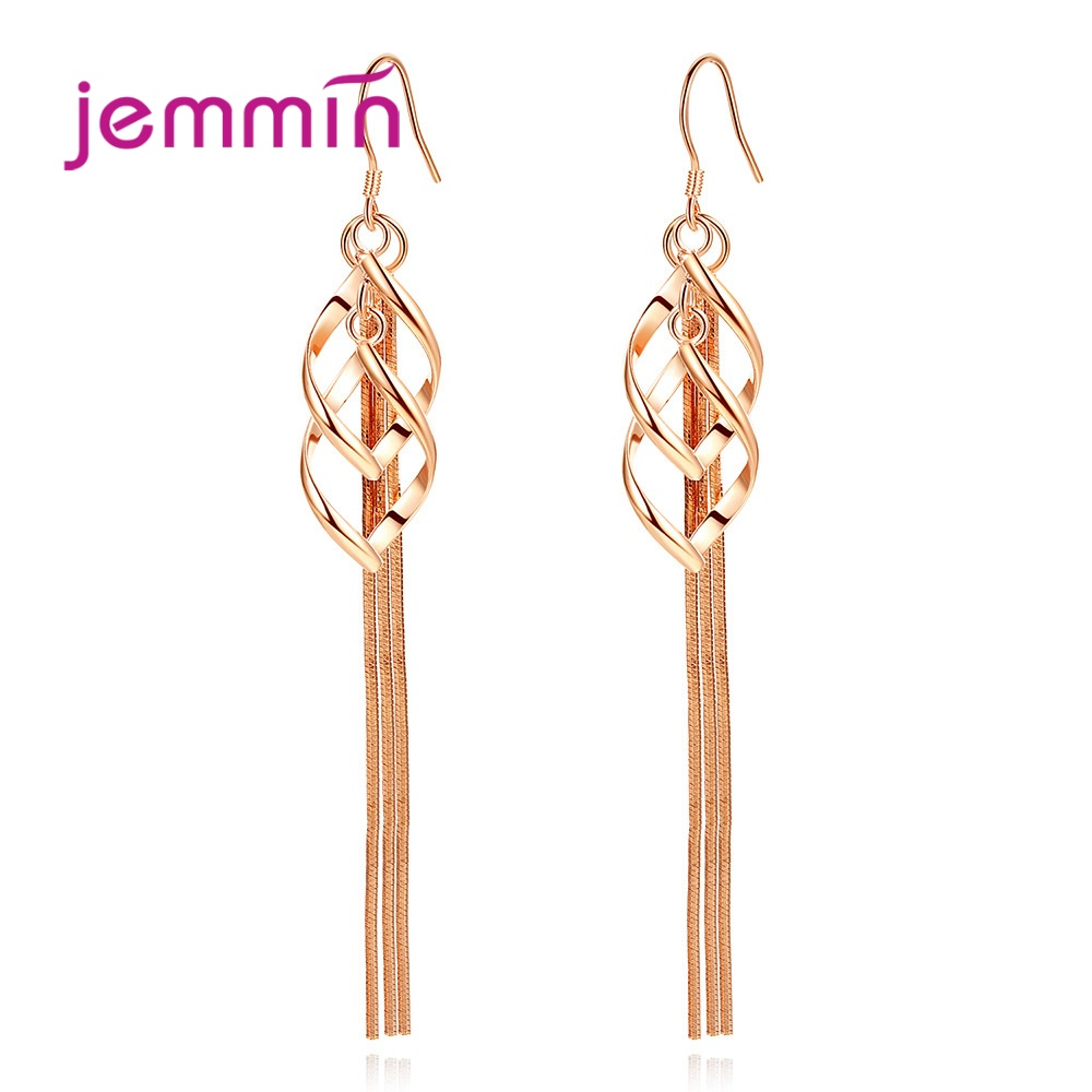 New Arrival S90 Drop Earrings Trendy Style Leaves Design Best Gift For Women Girls Party Appointment Two Colours