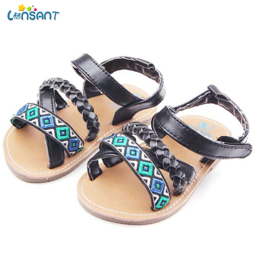 LONSANT Fashion Infant Newborn Baby First Walker Toddler Anti-slip Shoes Sandals Childre ...