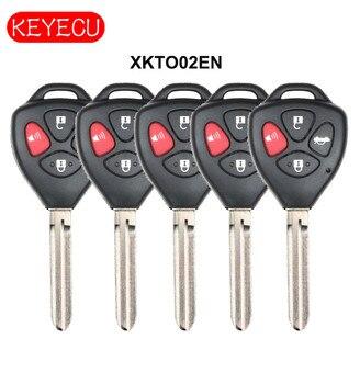Keyecu XHORSE Universal Remote Key WIRED 3 Button / 4 Button for VVDI Key Tool VVDI2 for Toyota Models