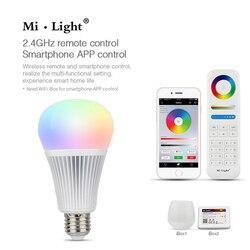 Mi light 9W RGB+CCT AC85-265V 2.4G Wireless E27 bulb RGBWW+ Color Temperature Dimmable 2 in 1 Smart MiLight LED Bulb