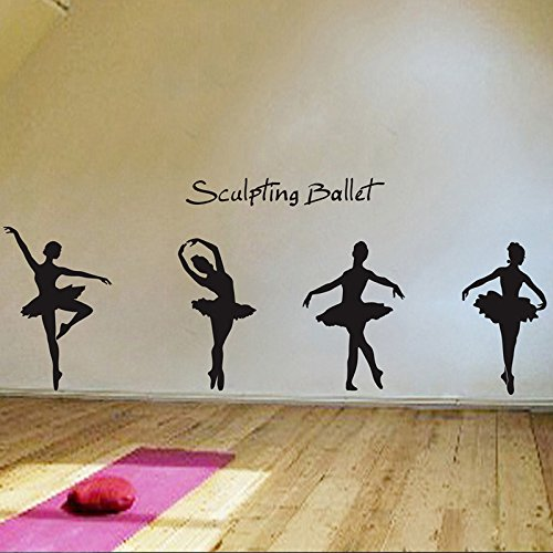 Wall Stickers Charming Ballet Dance Ballerinas Stars Custom Vinyl - Custom vinyl wall decals saying