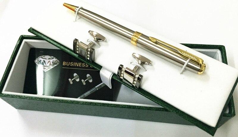 Customized Sonnet Papeleria Caneta Ballpoint Silver Pen Gold Clip .
