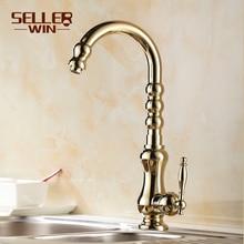 Одинарная ручка полированный нет кухня кран faucets затычка и холодная овощи умывальник вращающийся умывальник ws-8454