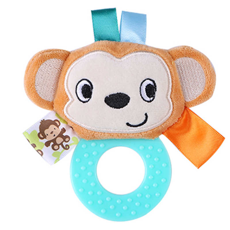 ซิลิโคน Teether ของเล่นเด็กทารกมือจับยาง Rattle ตุ๊กตา BB 0-12 เดือนตุ๊กตาของเล่นเพื่อการศึกษา