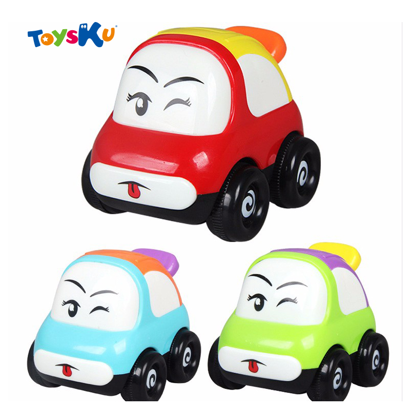 baby toys push back and go mini car friction powered sports car police car trucksmile face truck educational toys for kids