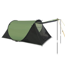 1-2 personne camping en plein air tente deuxième ouvert jeter pop up tente avec soutien bâtons