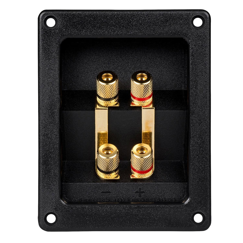 Bi-Amp Speaker Terminal Cup Junction box Gold Banana Binding Post tjm120711 terminal junction modules ser 1 term junction md s mr li