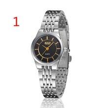 Relógio dos homens do relógio dos homens superfície preta relógio mecânico correia de aço à prova d' água estudante relógio feminino Han