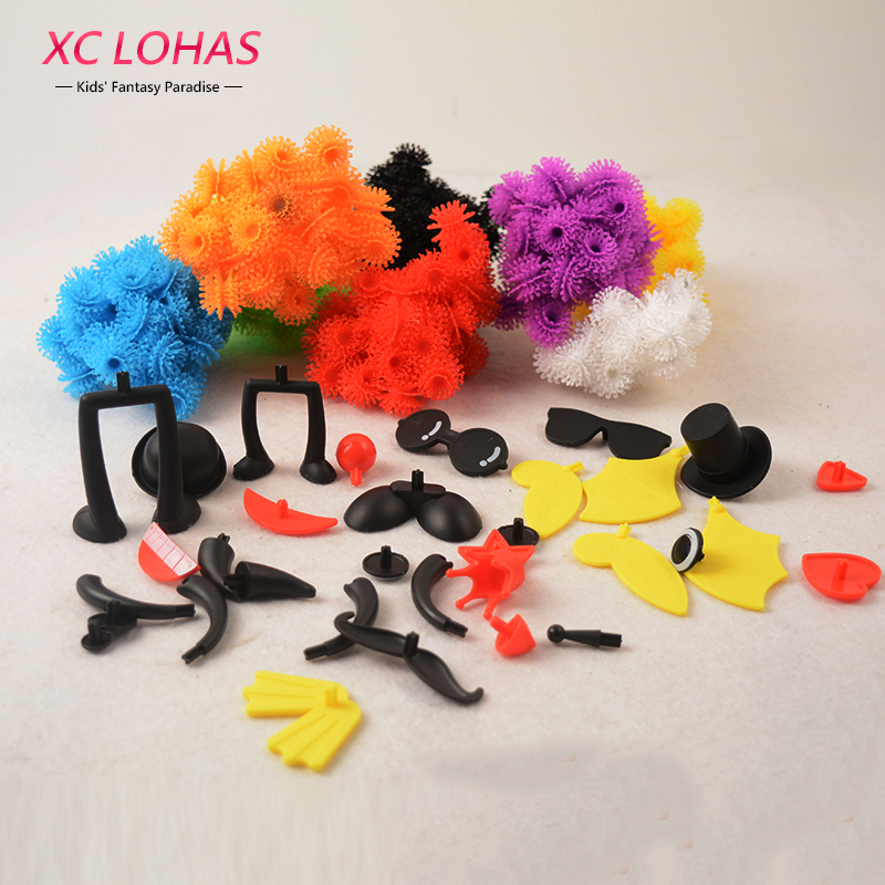 400 pcs Assemble 3D Puzzle DIY Puff Ball Squeezed Ball Creative Thorn Ball Clusters Handmade Educational Toys Birthday Gifts wat phra kaew cubicfun 3d educational puzzle paper