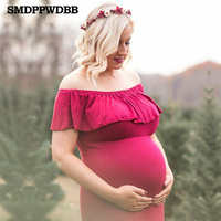 SMDPPWDBB Maternity Dress Maternity Photography Props Sexy Maxi Dress Elegant Fancy Pregnancy Photo Shoot Women Long