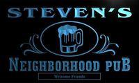X0018 Tm Steven S Neighborhood Pub Beer Mug Custom Personalized Name Neon Sign Wholesale Dropshipping