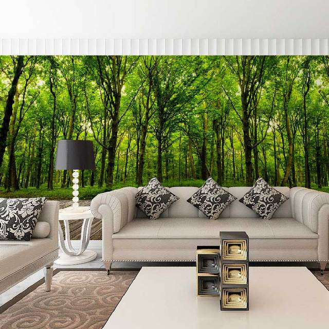 Buy 3d stereoscopic room wallpaper trees for Paredes 3d medellin