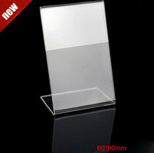 60*90MM 20 pcs acrylic desk table tablet stands sign showing stand acrylic price label holder