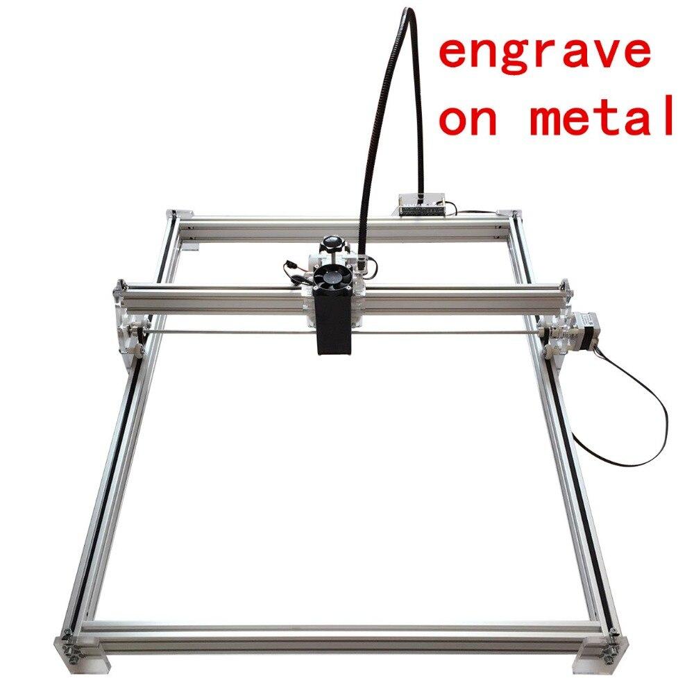 10 w Mini bureau bricolage gravure Laser graveur machine de découpe Laser Etcher CNC impression image de 50X65 cm marque logo sur étiquette de chien
