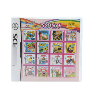 520 In 1 Compilations Video Game Cartridge Card For DS Game Console Super Combo Multi Cart