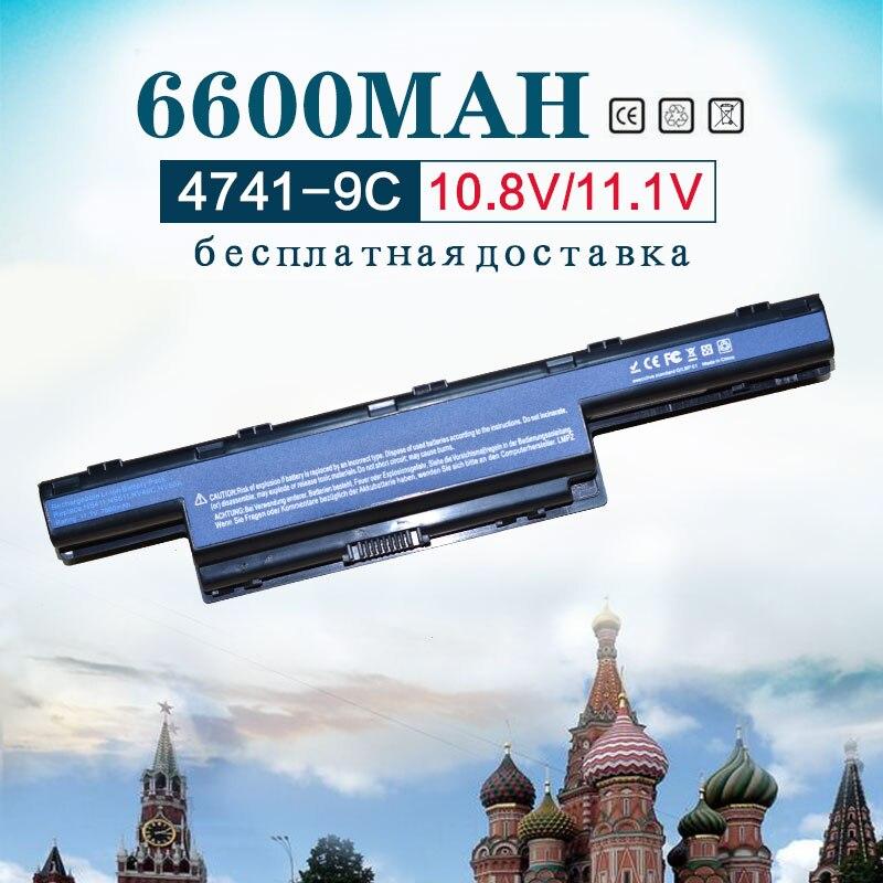 6600 mAh batería para Acer V3 571G AS10D31 AS10D61 AS10D41 AS10D71 AS10D3E 4551G-P322G32Mn 5552G 5551G 5560 de 5560G 5733Z 5741