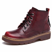 Martin Boots Popular Shoes Soft Leather 3-styles Size 35~39 Women's Shoes Casual Boots