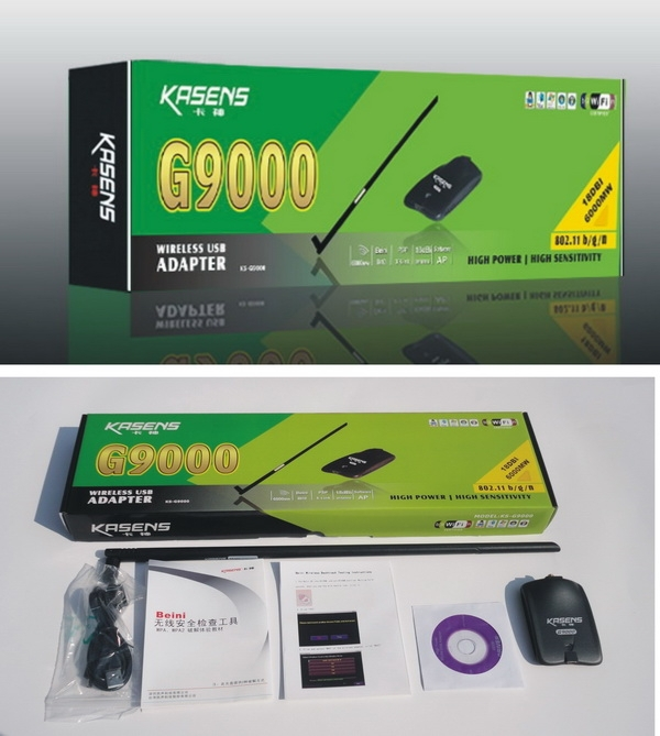 New Kasens KS-G9000 3070 chipst 18db 6000mW high power wireless usb adapter wifi USB antenna - Ami Cai's store
