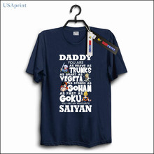 ff4d6019 USAprint Fathers Day Gift T Shirt Dragon Ball Z Clothing Daddy Super Dads  Mens Top Cotton
