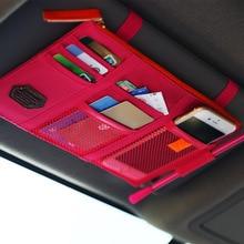 Car Sun Visor Storage Bag Card Organizer