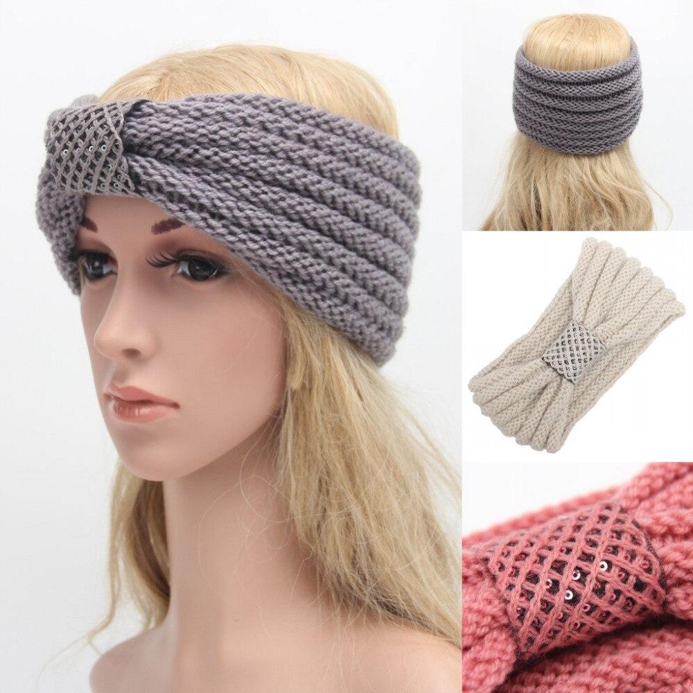 New Fashion Women Hair Accessories Headband Bow Knot Crochet