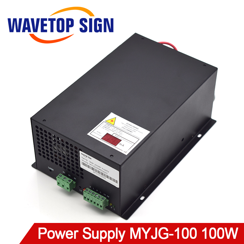 100W CO2 Laser Power Supply for CO2 Laser Engraving Cutting Machine MYJG-100W co2 laser machine laser path size 1200 600mm 1200 800mm