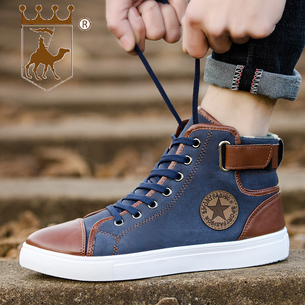 BACKCAMEL 2018 Autumn Winter Thickening Large Size High Top Women Men Shoes Couple Shoes Casual Sneakers Men's Vulcanize Shoes