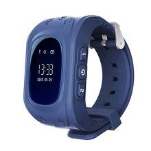 Mais novo Q50 Crianças Inteligentes relógio de Pulso Kid Safe Pista GPS Inteligente relógio Chamada SOS Localizador Localizador Rastreador Bebê Anti Perdido Monitor de