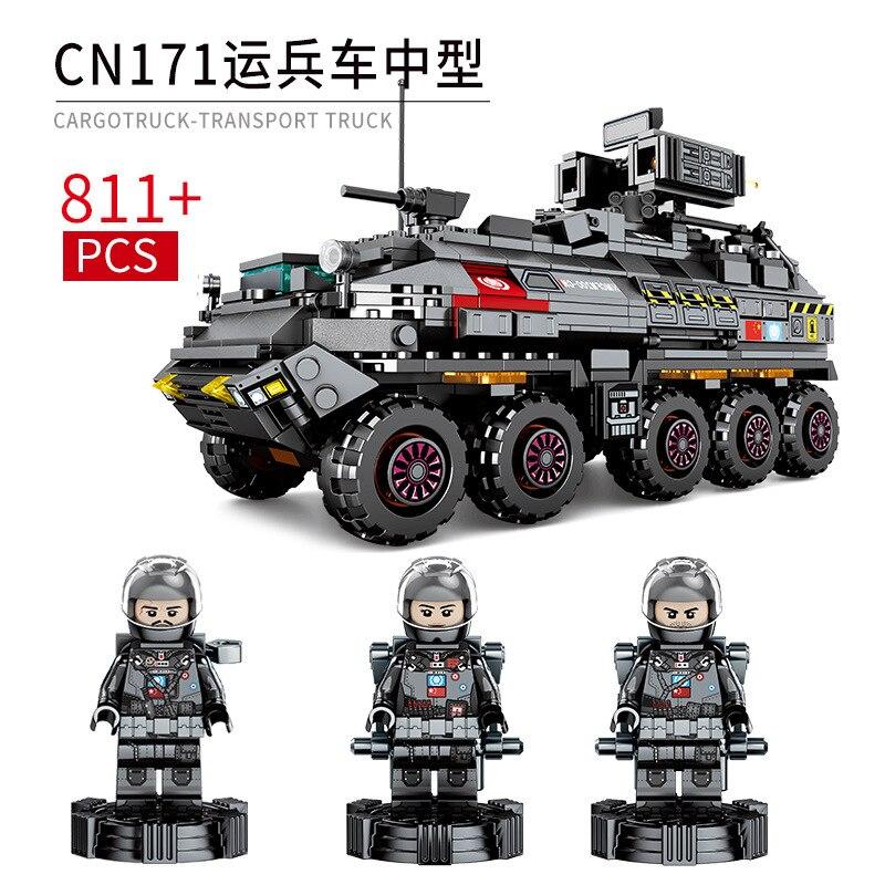 811 sztuk klocki dla dzieci zabawki ziemi wędrówki kompatybilny Legoingly technic miasto średniej pojazd transportowy figurki cegły w Klocki od Zabawki i hobby na  Grupa 1