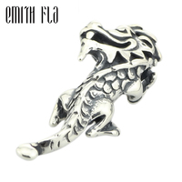 100 925 Sterling Silver Happy Dragon Charm Beads Fit Original European Troll Bracelet Authentic DIY Bead