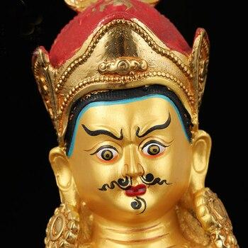 Special Offer -Wholesale Buddha statue 21CM tall HOME Company Money drawing Gilding Gold-plated Guru Padmasambhava Buddha statue