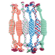 Dog Pet Puppy Chew Cotton Rope Ball Braided Knot Toy Durable Braided Bone Rope Funny Tool