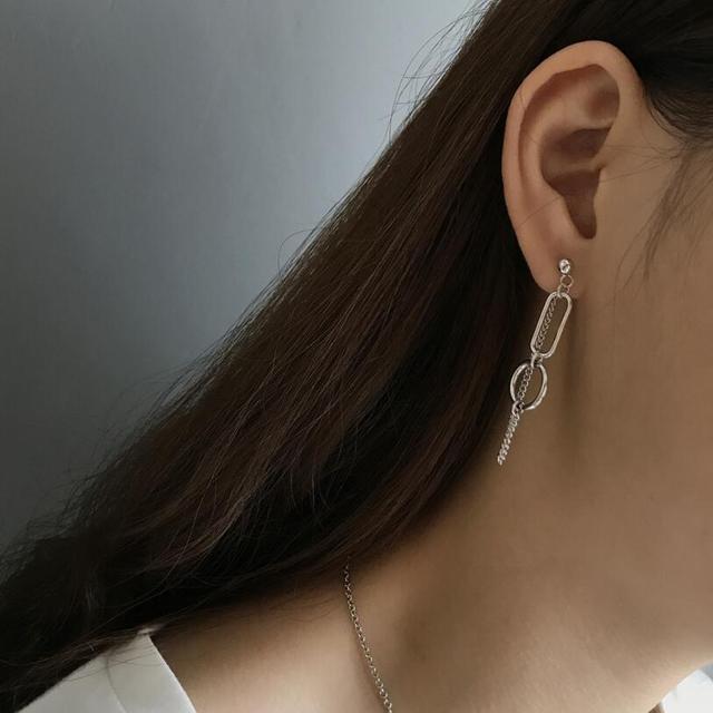 925 argent Double cercle gland boucles doreilles pour les femmes bijoux 100% argent Sterling Multi petits cercles boucle doreille femme 2018