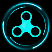 5 Colors Glowing Hand Spinner Fidget Toys Plastic EDC Hand Spinner For Autism ADHD Anxiety Stress Relief Focus Shine Toys Gifts