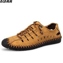 spring and summer new first layer leather men's shoes non-slip breathable casual shoes lazy peas shoes large size hollow shoe rax first layer of leather men casual shoes waterproof outdoor shoes male non slip warm leather shoes size 39 44 b2030