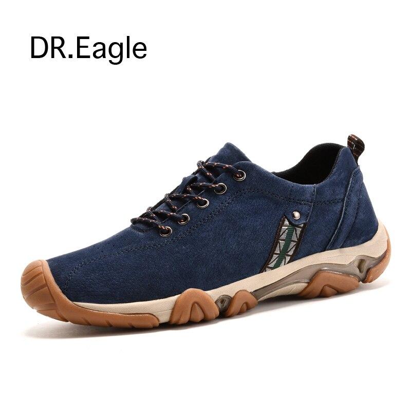 Для мужчин кроссовки 6 см Высота Увеличение кроссовки из натуральной кожи Открытый Спорт Пеший Туризм обувь Водонепроницаемый Восхождение ...