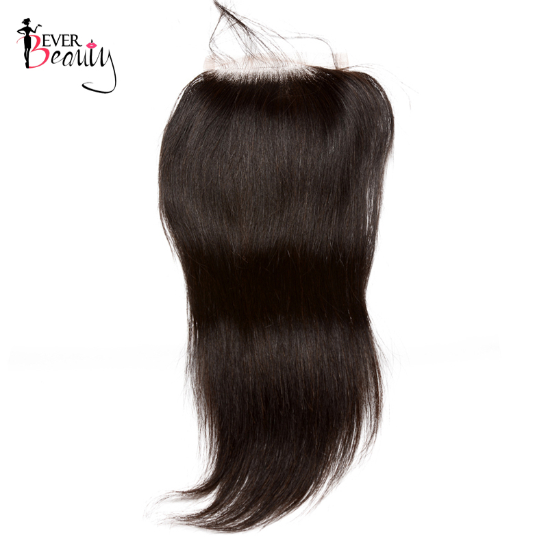 Straight Brazilian Hair 5x5 Lace Closure Pre Plucked Hairline With Baby Hair Bleached Knots Human Remy