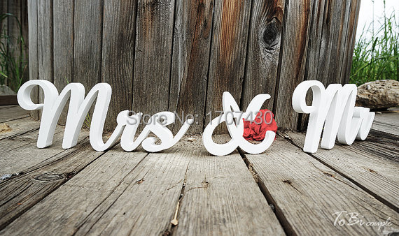 Mr And Mrs Large Wooden Letters: Aliexpress.com : Buy Wedding Sign Mr & Mrs Letters Table