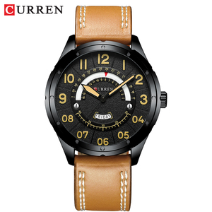 Image 4 - CURREN Date Mens Watches Luxury Sport Watch Quartz Calendar Watch Casual Business Leather Male Clock Military Wristwatches
