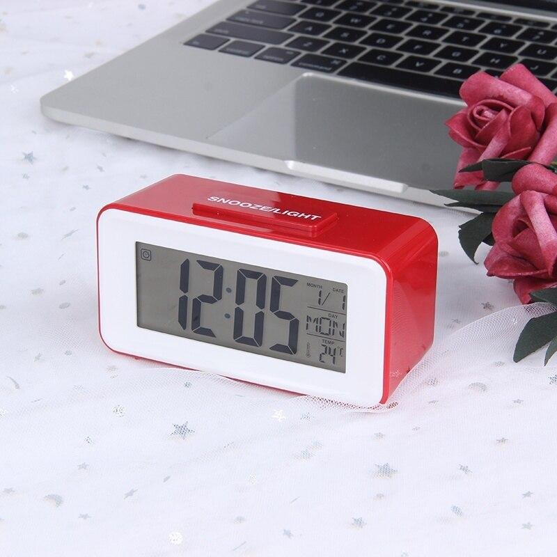 JULY'S SONG Digital LED Alarm Uhren Student Uhren Mit Woche Snooze Thermometer Uhr Elektronische Tisch Kalender LCD Schreibtisch Timer