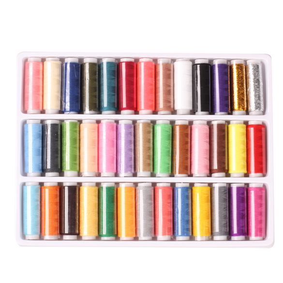 2016 Set of 39-colors 402 Fine Sewing Thread Strong And Durable Sewing Threads for Hand Sewing Industrial Machine image