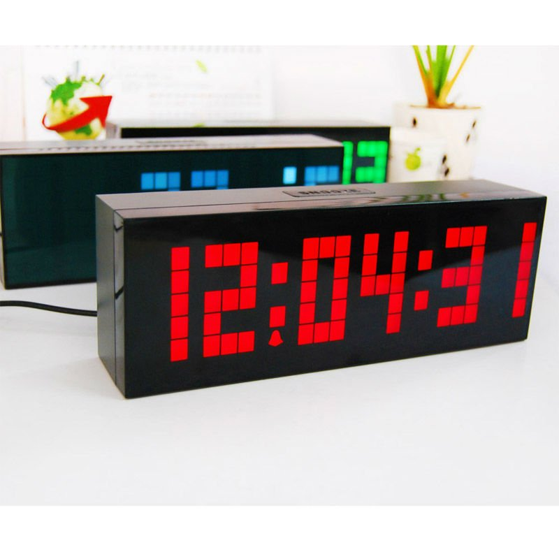 Awesome Big Large Number LED DIY Digital Table Clock Timer Vintage Thermometer Jumping  Alarm Clock With Temperature Calendar In Alarm Clocks From Home U0026 Garden On  ...