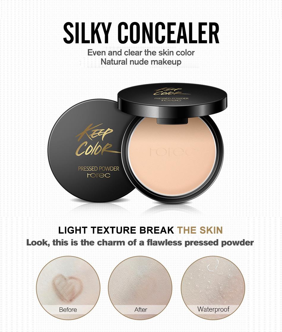 ROREC Mineral Pressed Face Powder Concealer Base Makeup Performance ...