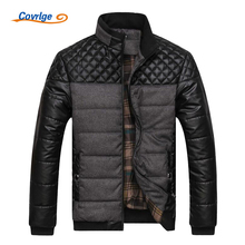 Covrlge Men's Padded Jacket 2017 Mens Winter Parkas Fashion Stand Collar Down Jackets Warm Quilted Men Coat Overcoats MWM007