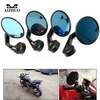 Motorcycle Rearview Mirror Universal CNC Aluminum Cafe Racer Handlebar End Mirror For Yamaha R1 MT01 Honda Suzuki Benelli KTM