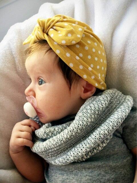 7503ad1b66fe 1pcs rabbit ears dots Indian hat baby girls kids turban headband ...
