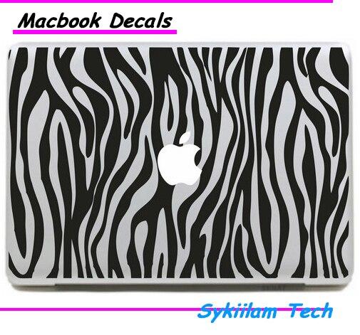 Полоса Текстура Зебры Логотип 3D Визуальных Эффектов для Apple Наклейка для Macbook кожи Air 11 13 Pro 13 15 Сетчатки Стены Винила Полный Наклейки