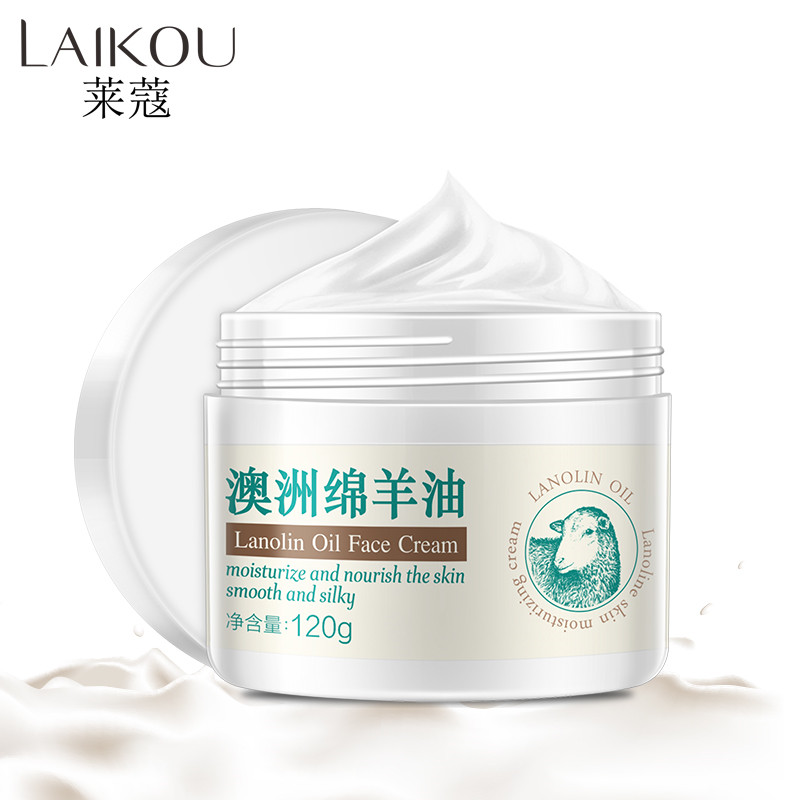 LAIKOU Australia Lanolin oil Face Cream Moisturize And Nourish the Skin Improve Dry Face Skin Care Whitening Face Cream 120g image