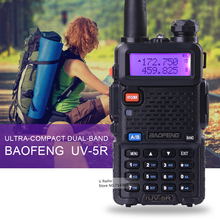 Venta caliente Baofeng UV-5R radio de dos vías Walkie Talkie de Radio Portátil Baofeng 5 W vhf uhf de doble banda 136-174 400-520 MHZ baofeng uv 5r